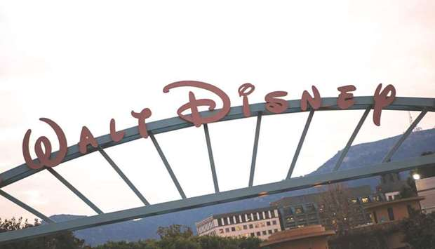 The Walt Disney headquarters in Burbank, California. Disney tumbled the most in almost 11 months on