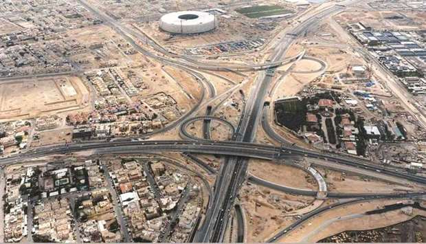 The three-level Mesaimeer Interchange will contain nine underpasses and two main bridges connecting
