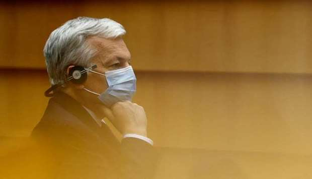 EU Justice Commissioner Didier Reynders attends the European Parliament in Brussels, Belgium