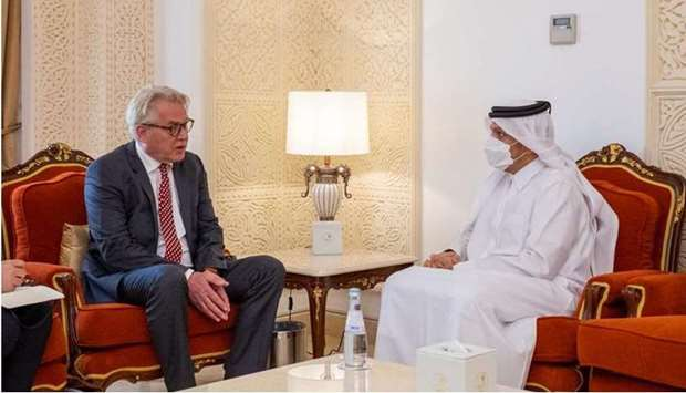 HE the Deputy Prime Minister and Minister of Foreign Affairs Sheikh Mohammed bin Abdulrahman Al-Than