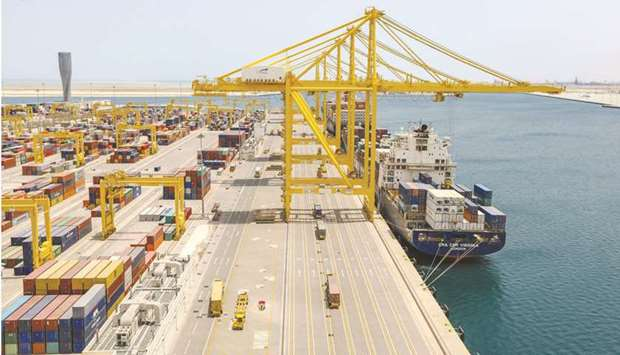Qatar's prospects of becoming a regional maritime hub strengthened as transshipment volumes grew by