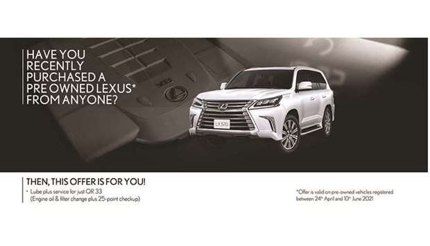 Any person or organisation purchasing a pre-owned Lexus vehicle from anyone, between April 24 and Ju