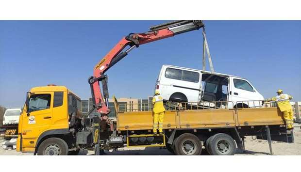 Al-Shahwani said that the campaign will continue for two weeks until all the abandoned vehicles at A