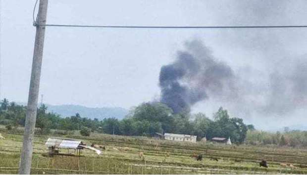 Myanmar rebel group says shoots down military helicopter