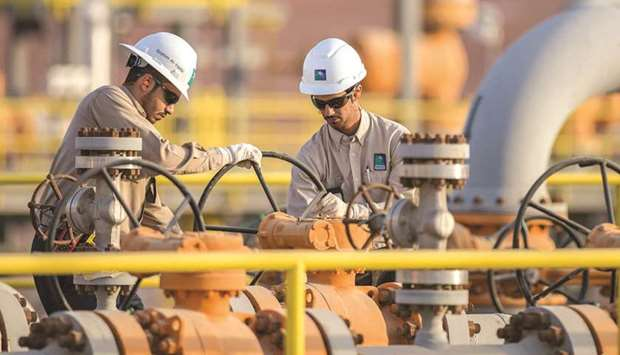 The handout picture provided by Aramco on December 19, 2016, shows its engineers working in eastern
