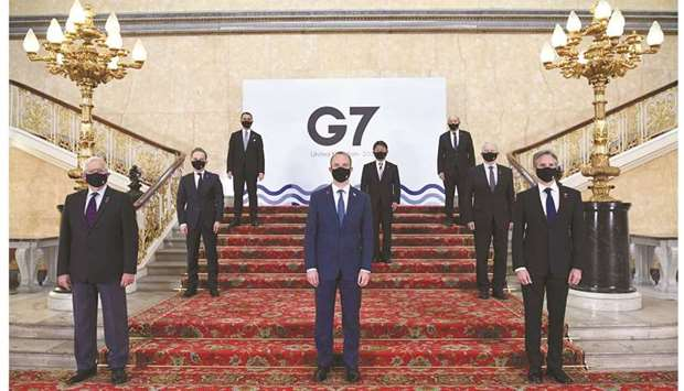 G7 seeks common front on China