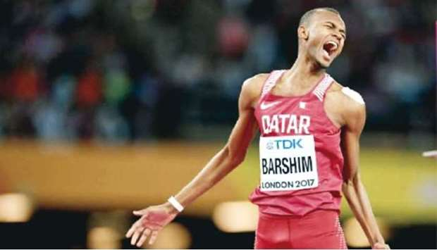 World high jump champion Mutaz Barshim will make his first appearance outside of his home country fo