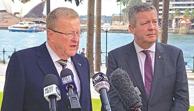 International Olympic Committee Vice President John Coates and Australian Olympic Committee Chief Ex