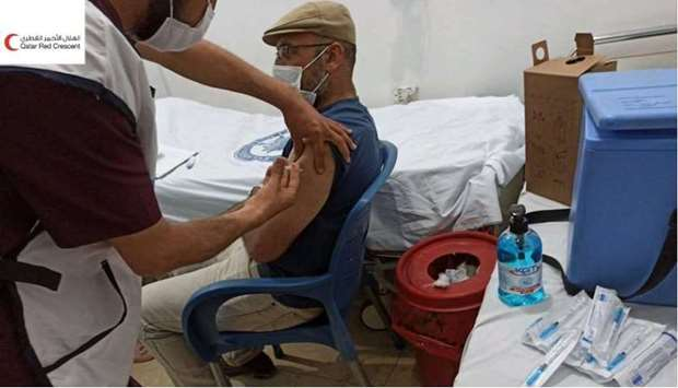Phase 1 involved giving the first dose of the AstraZeneca Covid-19 vaccine to health and humanitaria