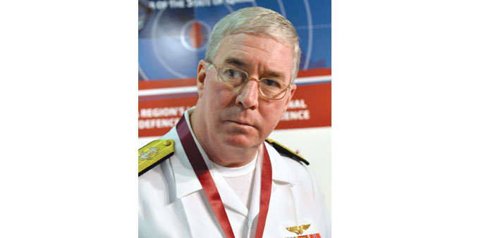 Vice Admiral John Miller: says Strait of Hormuz is an international Hormuz and all nations have a ri