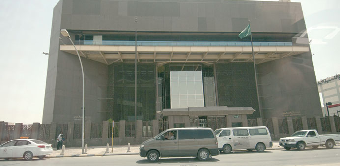 The headquarters of Saudi Arabia's central bank in Riyadh, Saudi Arabia. Kuala Lumpur-headquartere