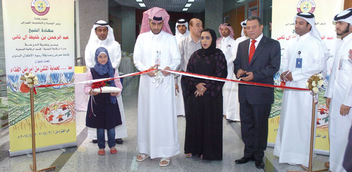 Officials at the inauguration of the exhibition.