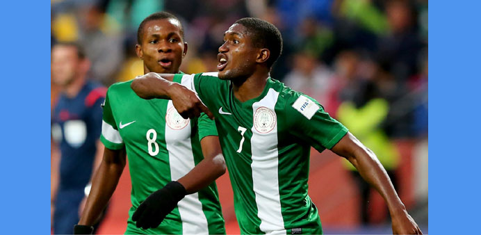 Funsho Ibrahim Bamgboye (No 7) during the FIFA Under-17 World Cup.