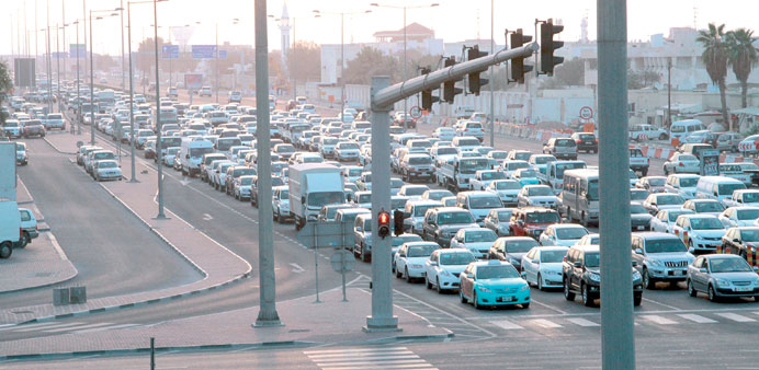 Traffic jams are a bitter reality in Doha. Flyovers and underpasses, say industry sources, are ways