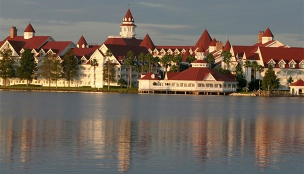 Early morning view of the Grand Floridian Resort and Spa