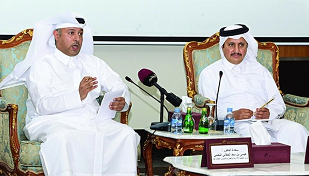 HE the Minister for Administrative Development and Labour and Social Affairs Dr Issa Saad al-Juffali