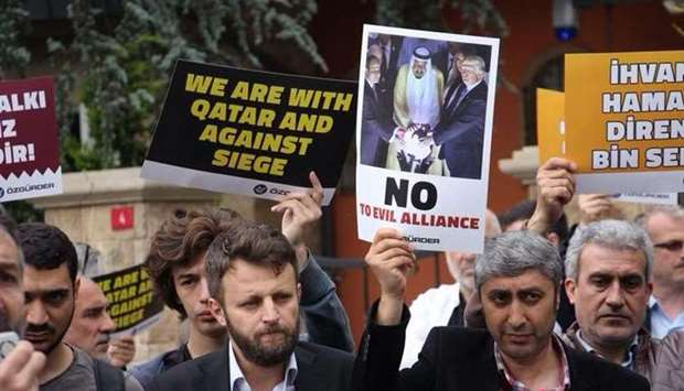 Protest held in front of the Istanbul consulate of  Saudi Arabia.