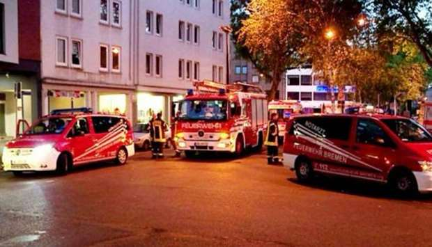 Fire in Germany refugee shelter