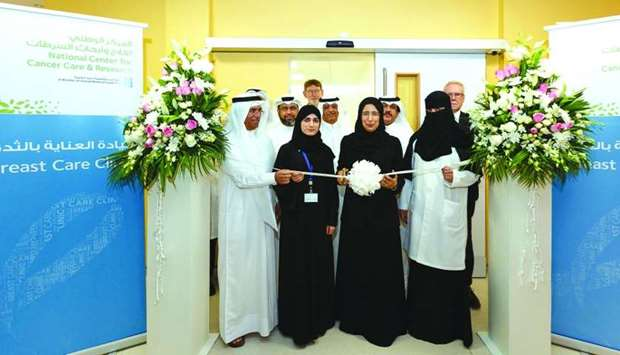 HE the Minister of Public Health Dr Hanan Mohamed al-Kuwari inaugurates the new Breast Care Clinic a