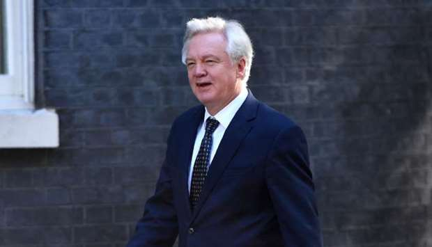 Britain's Secretary of State for Exiting the European Union (Brexit Minister) David Davis