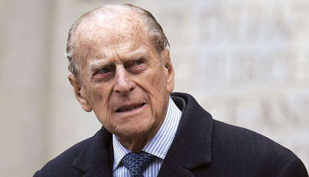 (FILES) This file photo taken on November 24, 2016 shows Britain's Prince Philip, Duke of Edinburgh