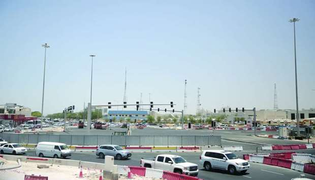 A view of the TV Roundabout signal