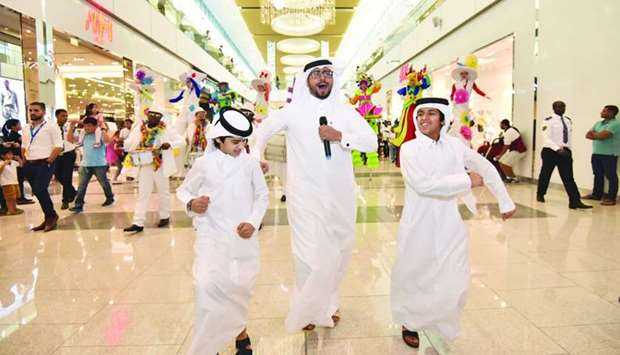 Renowned Qatari comedian Hamad al-Ammari join mall-goers in a special QSF event recently