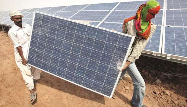 Solar energy booms in India