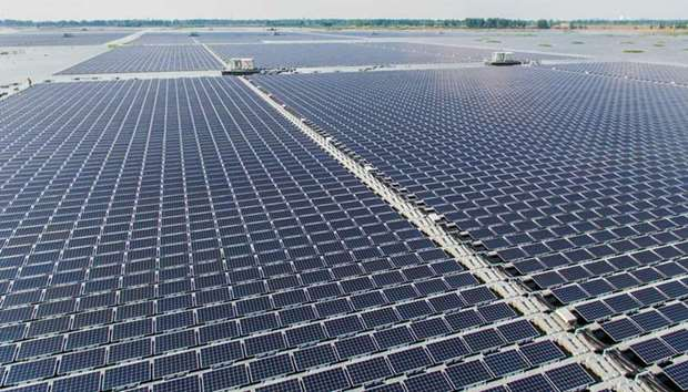 The floating solar farm, which can generate 40 megawatts of electricity