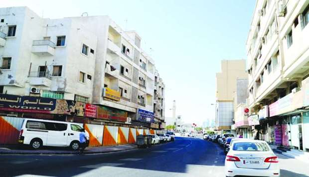 Tenants of many of these buildings on Asmakh Street have left the area. PICTURE: Jayan Orma