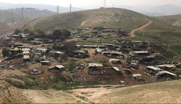 'Khan al-Ahmar' village east of Jerusalem