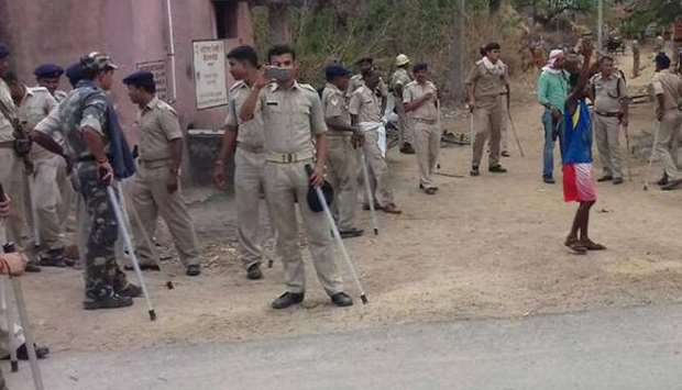 Police personnel deployed after locals lynched two men accused of kidnapping children