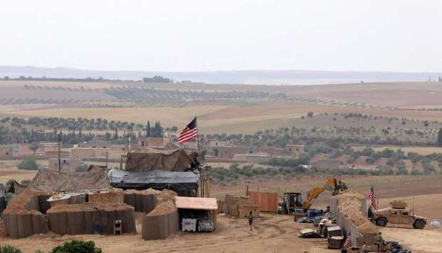 US forces set up a new base in Manbij, Syria. File picture: May 8