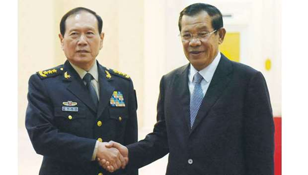 Chinese defence minister in Cambodia