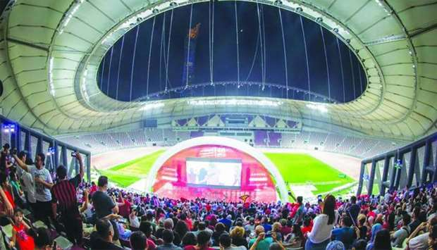 Fans can watch the games at Khalifa International Stadium on giant screens that are equipped with st