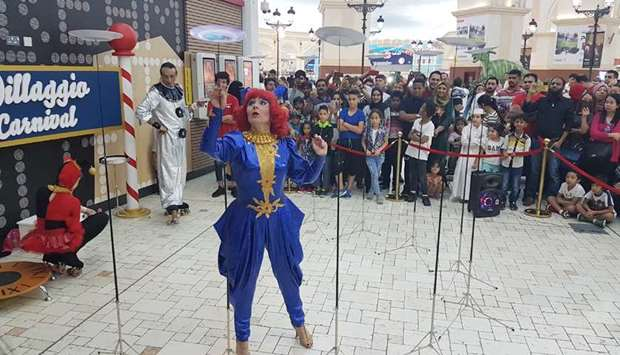 Roaming shows at participating malls, including Villaggio.  PICTURE: Joey Aguilar