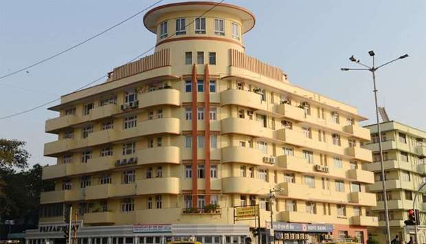 Art Deco building on Marine Drive in Mumbai