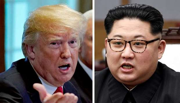 US President Trump and North Korean leader Kim Jong Un