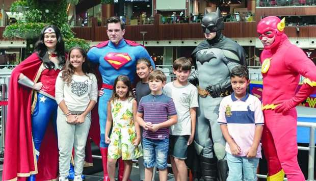 Meet and Greet opportunity with The Justice League characters at Mall of Qatar