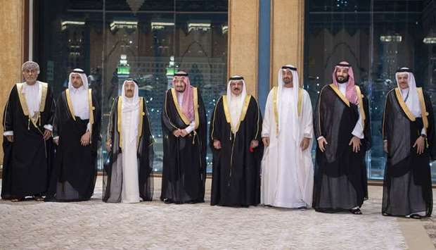 HE the Prime Minister and Interior Sheikh Abdullah bin Nasser bin Khalifa al-Thani with other others
