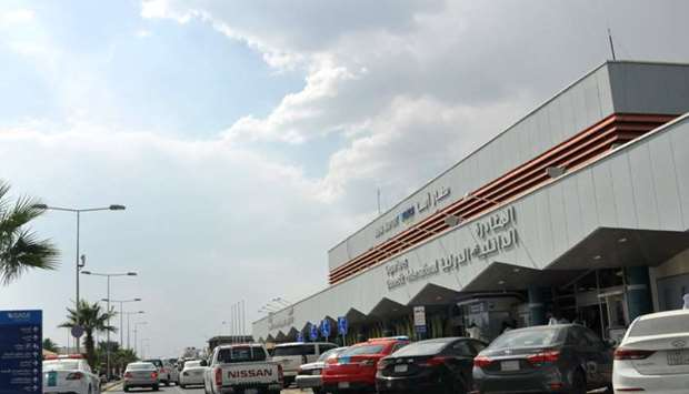 The entrance of Abha airport in southwestern Saudi Arabia's mountainous resort.