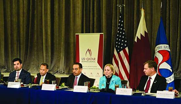 HE al-Kuwari at a roundtable organised by the US Chamber of Commerce and the US-Qatar Business Counc