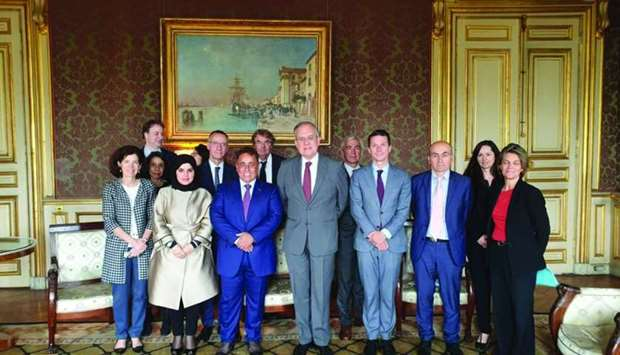 Secretary General of the French Ministry of Foreign Affairs, Maurice Gourdault-Montagne met Qatar's