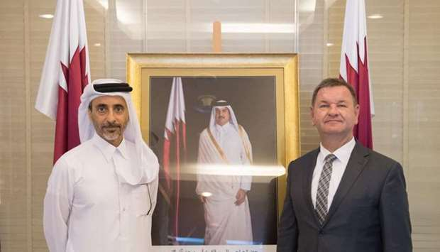 HE the Minister of Culture and Sports Salah bin Ghanem bin Nasser al-Ali met Poland's ambassador to