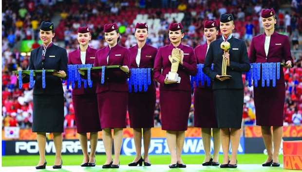 Medals and individual player awards were presented by Qatar Airways cabin crew