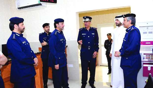 HE the Director of Public Security Staff Major General Saad bin Jassim al-Khulaifi with other offici