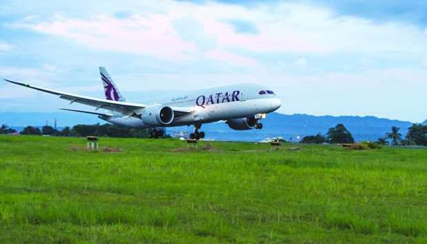 The first Qatar Airways flight from Doha touched down at Davao International Airport