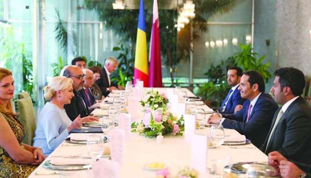 Romanian Prime Minister Viorica Dancila on Wednesday hosted a dinner in honour of HE the Deputy Prim