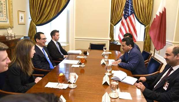 Qatar's Attorney-General HE Dr Ali bin Fetais al-Marri met in Washington on Friday with US Treasury
