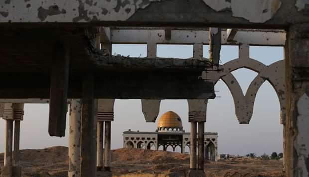 Scars on Middle East landscape bear witness to past peace failures. A view shows the derelict remain